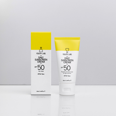 Daily Sunscreen Cream SPF 50 Non Tinted - All skintypes